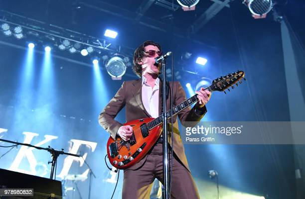 Alex Turner of Arctic Monkeys performs at CocaCola Roxy on June 19 2018 in Atlanta Georgia