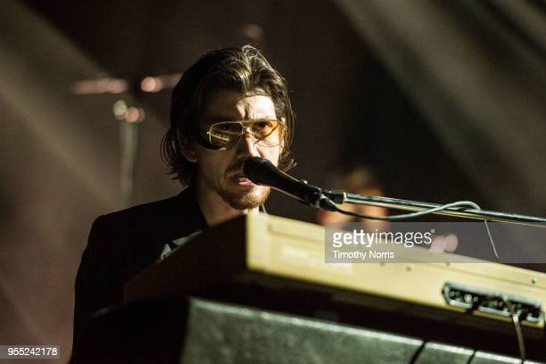 Alex Turner of Arctic Monkeys performs at Hollywood Forever on May 5 2018 in Hollywood California