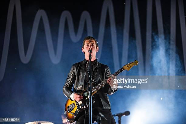 Alex Turner of Arctic Monkeys performs on day three of the Osheaga music festival on August 3 2014 in Montreal Canada