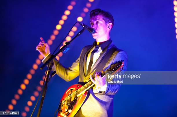 Alex Turner of Arctic Monkeys performs on stage on Day 2 of Hurricane Music Festival 2013 on June 22 2013 in Scheessel Germany