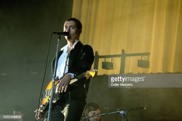 Alex Turner of Artic Monkeys performs at Sziget festival on August 14 2018 in Budapest Hungary