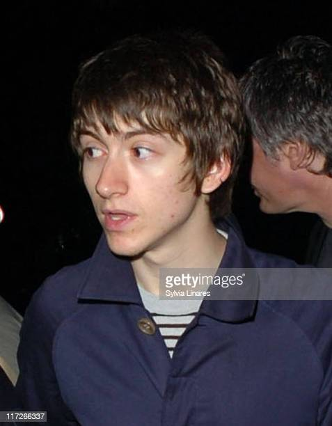 Alex Turner of the Arctic Monkeys during Celebrity Sightings at the Astoria April 12 2007 at Astoria in London Great Britain