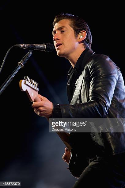 Alex Turner of the Arctic Monkeys perform during the Outside Lands Music and Arts Center at Golden Gate Park on August 8 2014 in San Francisco...