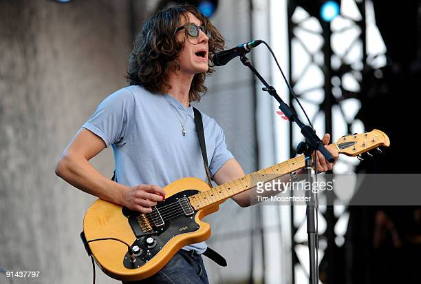 Alex Turner of the Arctic Monkeys performs as part of the Austin City Limits Music Festival at Zilker Park on October 4 2009 in Austin Texas
