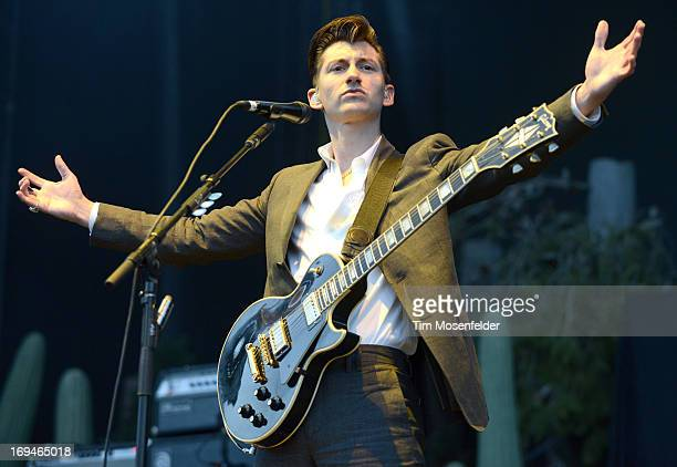 Alex Turner of the Arctic Monkeys performs as part of the Day 1 of the Sasquatch Music Festival at the Gorge Amphitheatre on May 24 2013 in George...