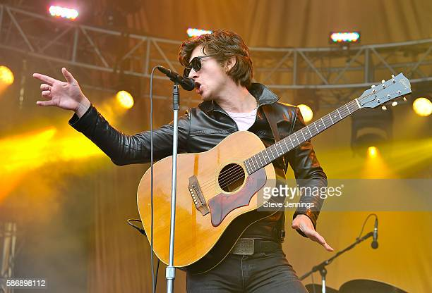 Alex Turner of The Last Shadow Puppets performs on Day 2 of Outside Lands Music and Arts Festival at Golden Gate Park on August 6 2016 in San...