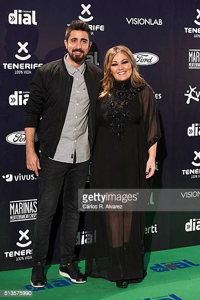 Alex Ubago and Amaia Montero attend the Cadena Dial 2015 awards at the Recinto Ferial on March 3 2016 in Tenerife Spain