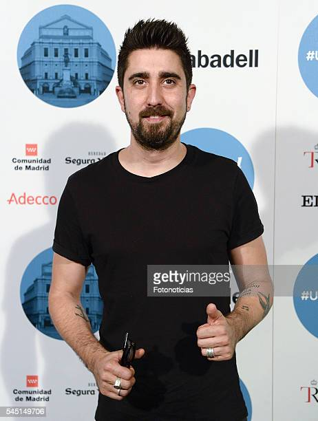 Alex Ubago arrives to the Universal Music Rod Stewart concert at the Teatro Real on July 5 2016 in Madrid Spain