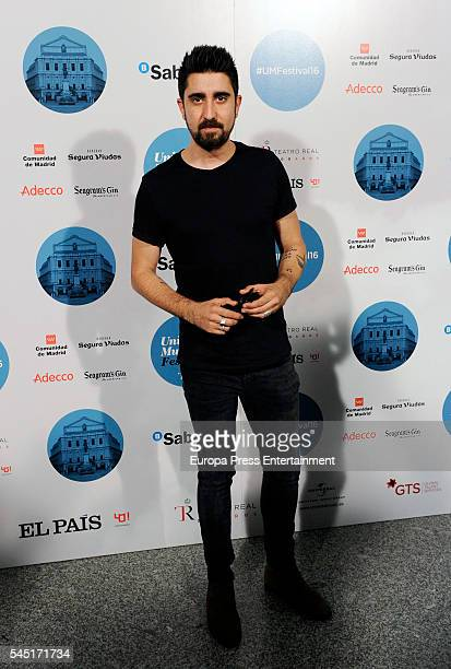 Alex Ubago attends Rod Stewart concert at Royal Theatre on July 5 2016 in Madrid Spain