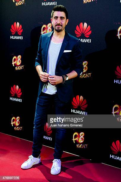 Alex Ubago attends the Huawei P8 presentation party at Bodevil theatre on June 10 2015 in Madrid Spain