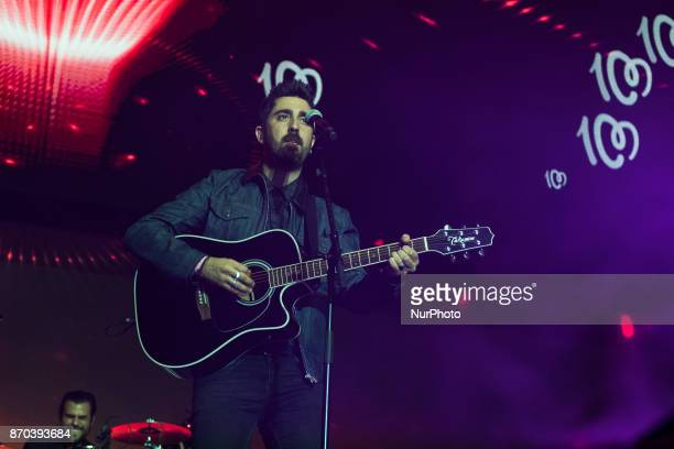 Alex Ubago performs during the concert quotCadena 100 por Ellasquot whose benefits go to the Spanish Association Against Cancer for the fight against...