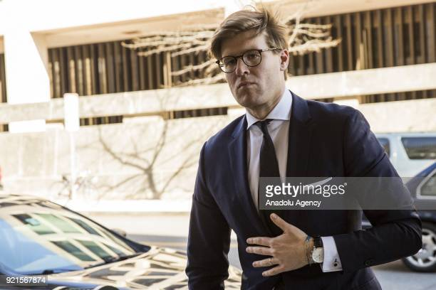 Alex Van der Zwaan arrives at the US District Courthouse to plead guilty to charges of making false statements to investigators during Robert...