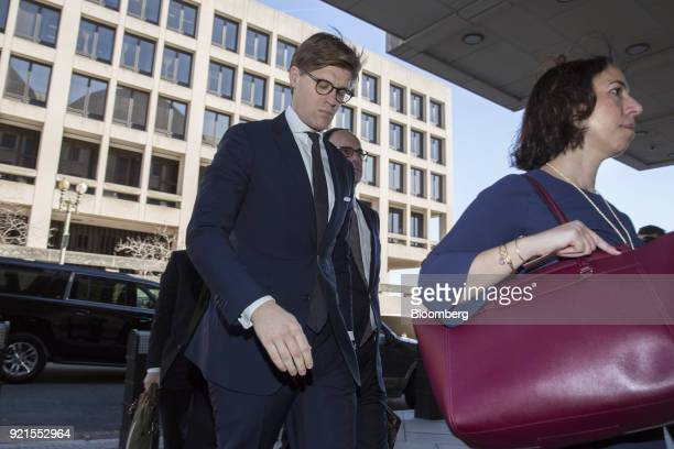 Alex Van der Zwaan former associate at Skadden Arps Slate Meagher Flom UK LLP arrives at the Federal Court in Washington DC US on Tuesday Feb 20 2018...
