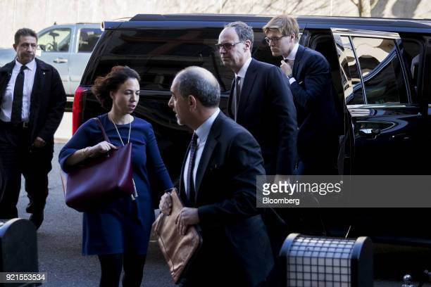 Alex Van der Zwaan former associate at Skadden Arps Slate Meagher Flom UK LLP back right arrives at the Federal Court in Washington DC US on Tuesday...