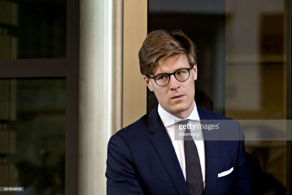 Alex Van der Zwaan, former associate at Skadden Arps Slate Meagher & Flom UK LLP, exits Federal Court in Washington, D.C., U.S. on Tuesday, Feb. 20, 2018. Van der Zwaan was charged on February 16 with making false statements to federal authorities as part of Special Counsel Robert Mueller's probe of Russian collusion in the 2016 presidential election. Photographer: Andrew Harrer/Bloomberg via Getty Images