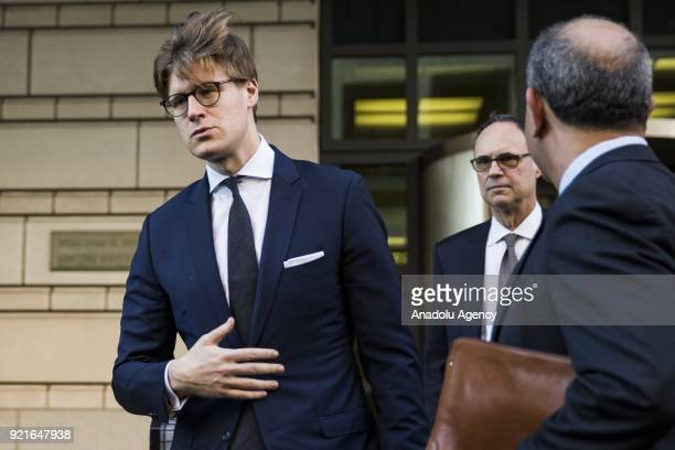 Alex Van der Zwaan leaves the US District Courthouse after pleading guilty to charges of making false statements to investigators during Robert...