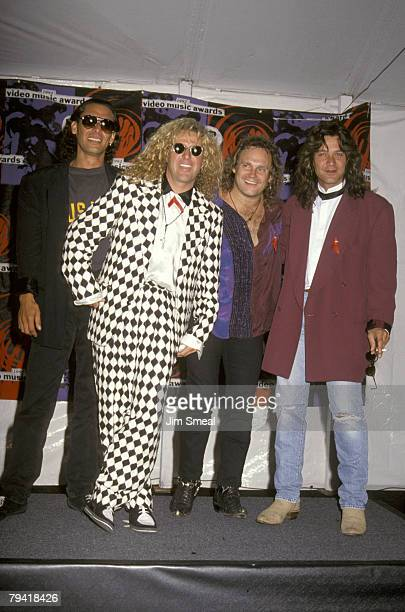Alex Van Halen Sammy Hagar Michael Anthony and Eddie Van Halen
