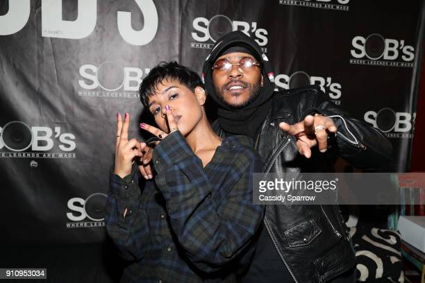 Alex Vaughn and Eric Bellinger attend Eric Bellinger In Concert at SOB's on January 26 2018 in New York City