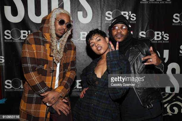 A1 Alex Vaughn and Eric Bellinger attend Eric Bellinger In Concert at SOB's on January 26 2018 in New York City