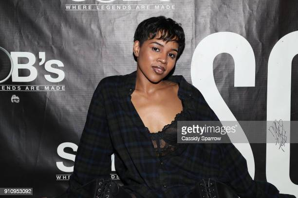 Alex Vaughn attends Eric Bellinger In Concert at SOB's on January 26 2018 in New York City