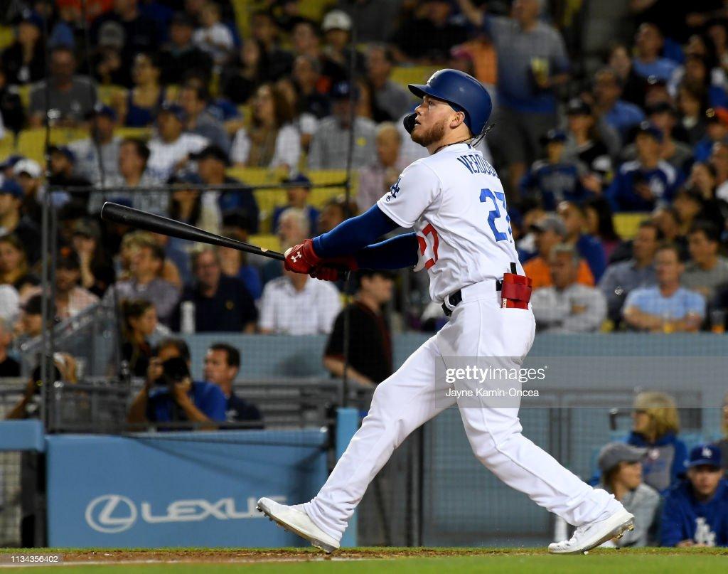 San Francisco Giants v Los Angeles Dodgers : Foto jornalística