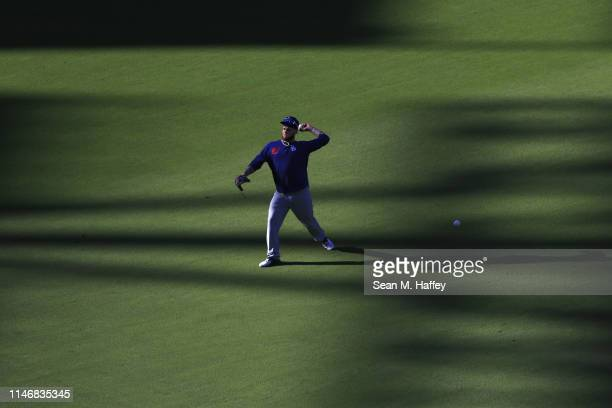 Alex Verdugo of the Los Angeles Dodgers warms up prior to a game against the San Diego Padres at PETCO Park on May 03 2019 in San Diego California