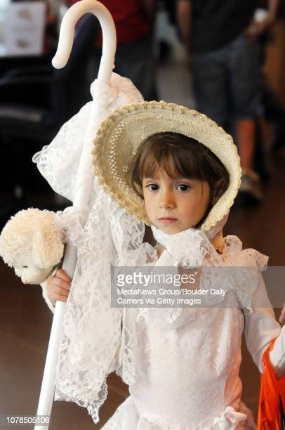 Alex Vialpando dressed as Little Bo Peep was ready for trick or treating during the Fall Fest at the Broomfield Event Center on Saturday October 25...