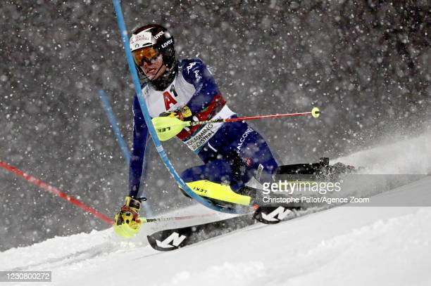 Alex Vinatzer of Italy in action during the Audi FIS Alpine Ski World Cup Men's Slalom on January 26, 2021 in Schladming Austria.