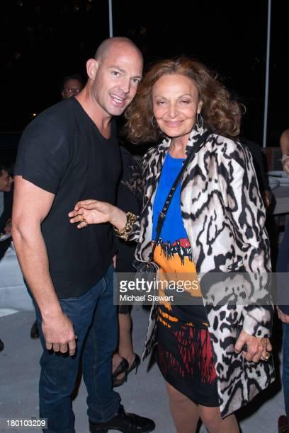 Alex Von Furstenberg and designer Diane Von Furstenberg attend the Diane Von Furstenberg After Show Dinner at The Diller Von Furstenberg Building on...