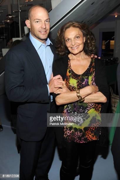 Alex von Furstenberg and Diane von Furstenberg attend DIANE VON FURSTENBERG Dinner In Honor Of CARLOS JEREISSATI at DVF Studios on May 18 2010 in New...