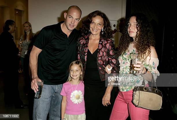 Alex von Furstenberg and his daughter Talita von Furstenberg with Diane von Furstenberg and Tatiana von Furstenberg