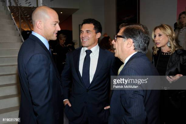 Alex von Furstenberg Andre Balazs and Bob Colacello attend Whitney Museum American Art Awards Gala at DVF Studios 820 Washington St on May 6 2010 in...