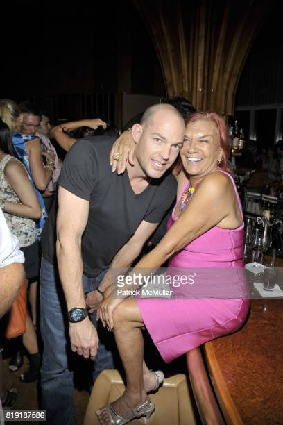 Alex von Furstenberg Carmen D'Alessio attend DAVID LACHAPELLE'S AMERICAN JESUS After Party at the Top of the Standard on July 13 2010 in New York City