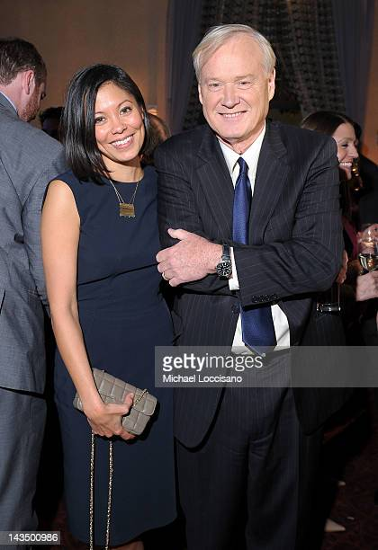 Alex Wagner and Chris Matthews of MSNBC attend the PEOPLE/TIME Party on the eve of the White House Correspondents' Dinner on April 27 2012 in...