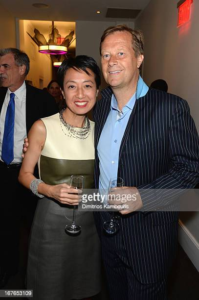 Alex Wagner and guest attend The New Yorker's David Remnick Hosts White House Correspondents' Dinner Weekend PreParty at W Hotel Rooftop on April 26...