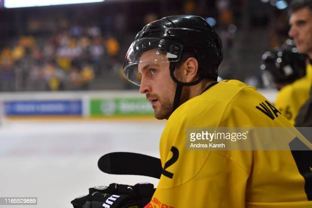 Alex Wall of Vienna looks on during the Champions Hockey League match between Vienna Capitals and Djurgarden Stockholm at Erste Bank Arena on...