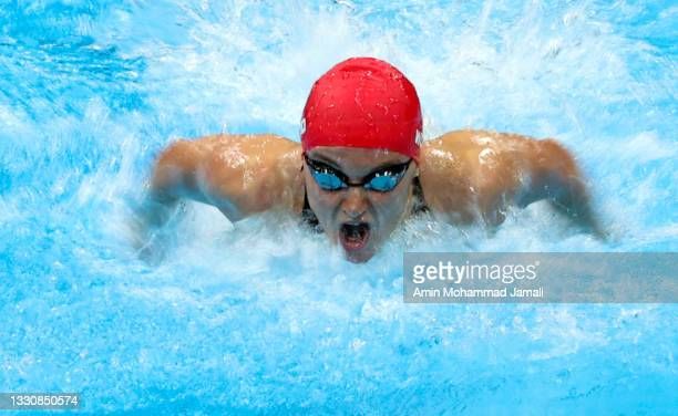 Alex Walsh of Team United States competes in the Women's 200m Individual Medley Semifinal 1 on day four of the Tokyo 2020 Olympic Games at Tokyo...