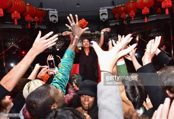 Alex Wang interacts with the crowd at Alex Wang's Big Trouble In Little China At The Rainbow Room Powered by Cash App on February 9 2019 at The...