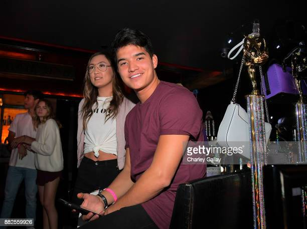 Alex Wassabi and Laura Diy attend Call It Spring takes over HYDE Lounge to host young Hollywood's finest for the Lakers vs Warriors NBA Game at Hyde...