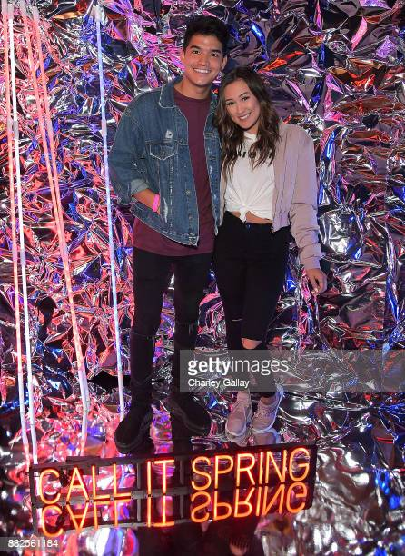 Alex Wassabi and Lauren Riihimaki attend Call It Spring takes over HYDE Lounge to host young Hollywood's finest for the Lakers vs Warriors NBA Game...