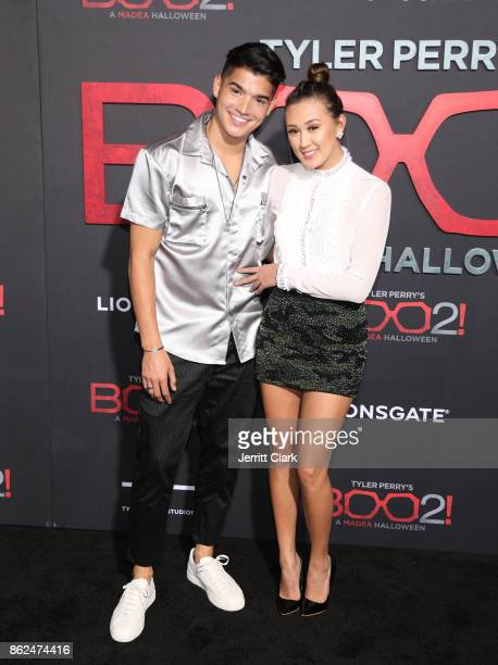 Alex Wassabi and Lauren Riihimaki attend the Premiere Of Lionsgate's 'Tyler Perry's Boo 2 A Madea Halloween' at Regal LA Live Stadium 14 on October...