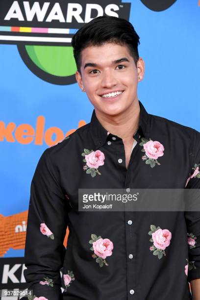 Alex Wassabi attends Nickelodeon's 2018 Kids' Choice Awards at The Forum on March 24 2018 in Inglewood California