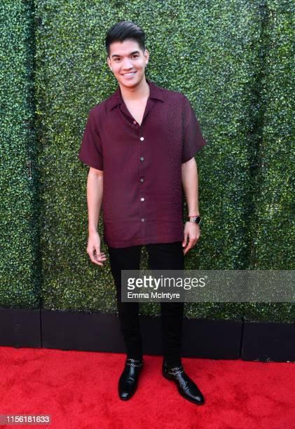 Alex Wassabi attends the 2019 MTV Movie and TV Awards at Barker Hangar on June 15 2019 in Santa Monica California