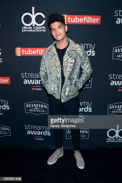 Alex Wassabi attends the official 2018 Streamys After Party at SkyBar at the Mondrian Los Angeles on October 22 2018 in West Hollywood California