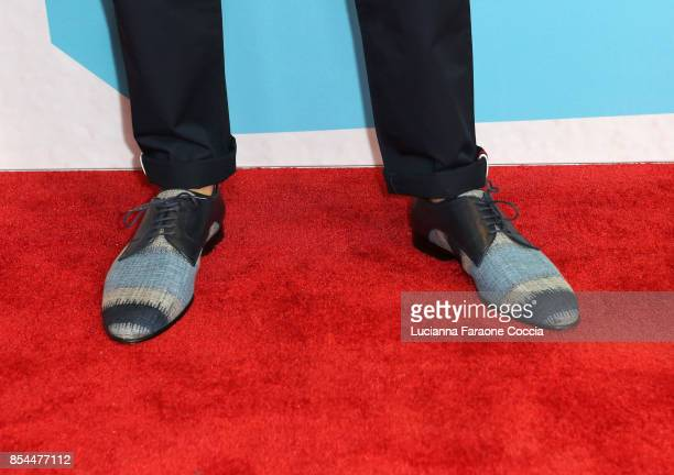 Alex Wassabi fashion detail attends the 7th Annual Streamy Awards at The Beverly Hilton Hotel on September 26 2017 in Beverly Hills California
