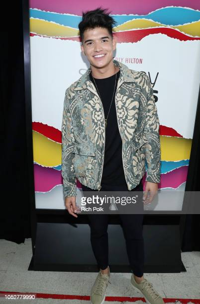 Alex Wassabi poses backstage during The 8th Annual Streamy Awards at The Beverly Hilton Hotel on October 22 2018 in Beverly Hills California