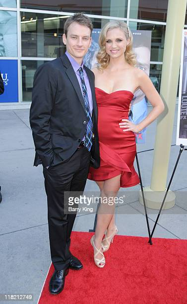 Alex Weed and actress Fiona Gubelmann arrives at FX Network premiere of Wilfred and season two launch of Louie at ArcLight Hollywood on June 20 2011...