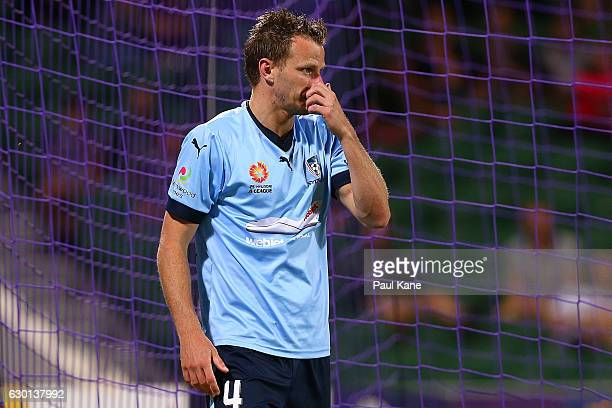 Alex Wilkinson of Sydney looks on during the round 11 ALeague match between Perth Glory and Sydney FC at nib Stadium on December 17 2016 in Perth...