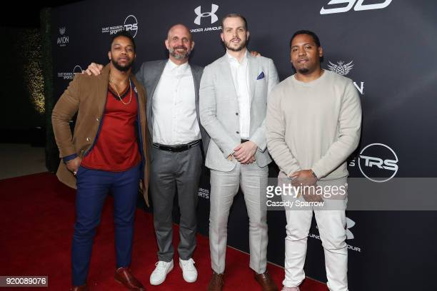 Alex Williams Nick Blatchford Corey Nocco and Thomas Harris Attend Tequila Avion hosts NBA AllStar After Party presented by Talent Resources on...