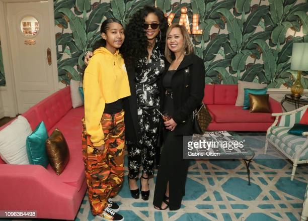 Alex Wilson HER and Agnes Wilson attend Basic Magazine and HER PreGrammy Party at the Private Residence of the CEO of Absolut Elyx on February 8 2019...